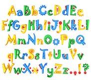 Alfabeto coloreado 3d aislado en el fondo blanco Imagen de archivo libre de regalías