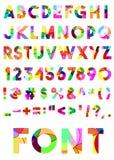 Alfabeto coloreado decorativo Imagenes de archivo