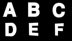 Alfabeto coloreado enmarañado alfa del lazo stock de ilustración