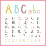 Alfabeto coloreado lindo Fotografía de archivo