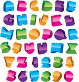 Alfabeto colorido Ilustração do Vetor
