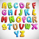 Alfabeto colorido Imagen de archivo