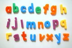 Alfabeto colorido Imágenes de archivo libres de regalías