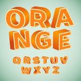 Alfabeto colorido 3d con el modelo anaranjado Imagenes de archivo