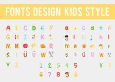 Alfabeto colorido de los niños Imagen de archivo libre de regalías