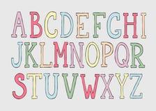 Alfabeto colorido del garabato Imágenes de archivo libres de regalías