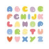 Alfabeto colorido del vector Fotos de archivo libres de regalías