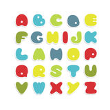 Alfabeto colorido do vetor Fotografia de Stock