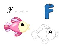 Alfabeto colorido - F Fotografia de Stock Royalty Free