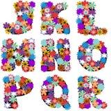 Alfabeto com as flores no fundo branco Imagem de Stock Royalty Free