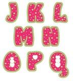 Alfabeto com corações Fotografia de Stock Royalty Free