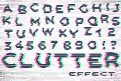 Alfabeto com efeito do pulso aleatório e da desordem imagem de stock royalty free