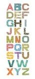 Alfabeto com elementos florais Imagem de Stock Royalty Free