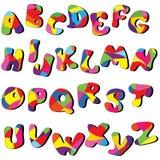 Alfabeto completo Fotografia Stock Libera da Diritti