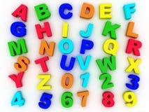 alfabeto completo 3d Fotografie Stock Libere da Diritti