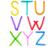 Alfabeto completo dell'aerostato Immagine Stock