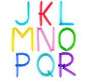 Alfabeto completo dell'aerostato Immagini Stock