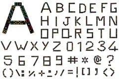Alfabeto di domino Fotografie Stock