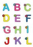 Alfabeto con il fiore 1 Immagine Stock