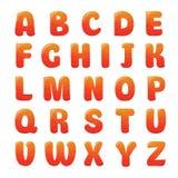 Alfabeto con il succo della fragola Fotografie Stock
