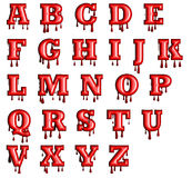Alfabeto con la sangre que gotea abajo Imagen de archivo libre de regalías