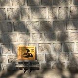 Alfabeto coreano alla parete Fotografie Stock