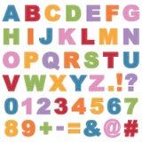 Alfabeto cosido Imagen de archivo libre de regalías