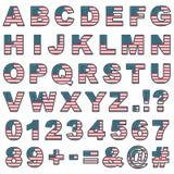 Alfabeto cosido de los E.E.U.U. Imagen de archivo libre de regalías