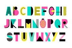 Alfabeto creativo di vettore Fotografia Stock Libera da Diritti