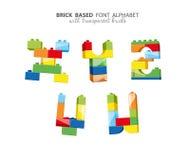 Alfabeto criado de jogar tijolos Foto de Stock