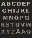 Alfabeto cromado Imagem de Stock