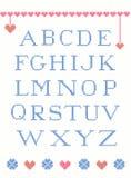 Alfabeto cruzado de la puntada Imagen de archivo libre de regalías