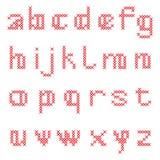 Alfabeto cruzado de la puntada Imagen de archivo