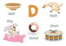 Alfabeto D stock de ilustración