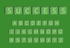 alfabeto 3D con el éxito de la palabra, letras de A a Z Fotos de archivo libres de regalías
