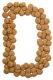 Alfabeto D de la tuerca del jengibre Imagenes de archivo