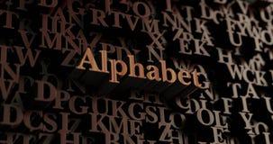 Alfabeto - 3D di legno ha reso le lettere/messaggio Fotografie Stock Libere da Diritti