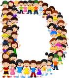 Alfabeto D do formulário das crianças ilustração stock