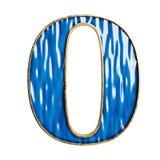 alfabeto 3d e números azuis no material do vidro e do bronze imagens de stock royalty free