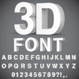 alfabeto 3D y números Fotos de archivo