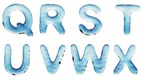 Alfabeto da acqua isolata su un fondo bianco illustrazione vettoriale