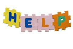 Alfabeto da ajuda Imagens de Stock