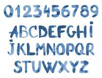 Alfabeto da aquarela Fotografia de Stock