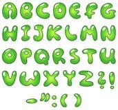 Alfabeto da bolha de Eco Foto de Stock