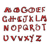 alfabeto da cauda do diabo dos desenhos animados Fotografia de Stock Royalty Free