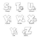 Alfabeto da coloração para miúdos Imagens de Stock Royalty Free