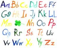 Alfabeto da cor de água Imagem de Stock Royalty Free