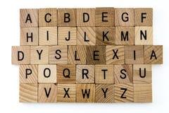 Alfabeto da educação da dificuldade da dislexia imagens de stock