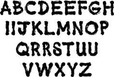 Alfabeto da escova Imagens de Stock