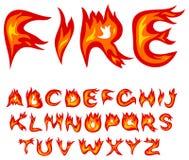 Alfabeto da flama ilustração stock
